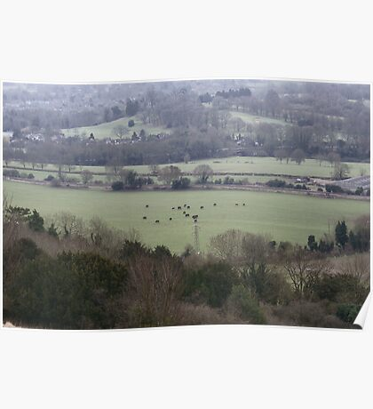 Countryside Shapes Poster