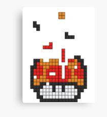 Super Mario Mushroom Pixel Canvas Print