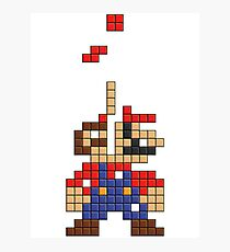 Super Mario Pixel Photographic Print