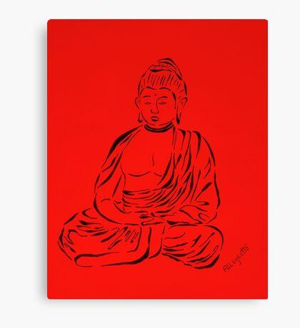 Red Buddha Canvas Print