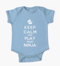 Keep Calm And Play Fruit Ninja One Piece - Short Sleeve