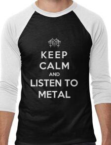 Keep Calm And Listen To Metal Men's Baseball ¾ T-Shirt