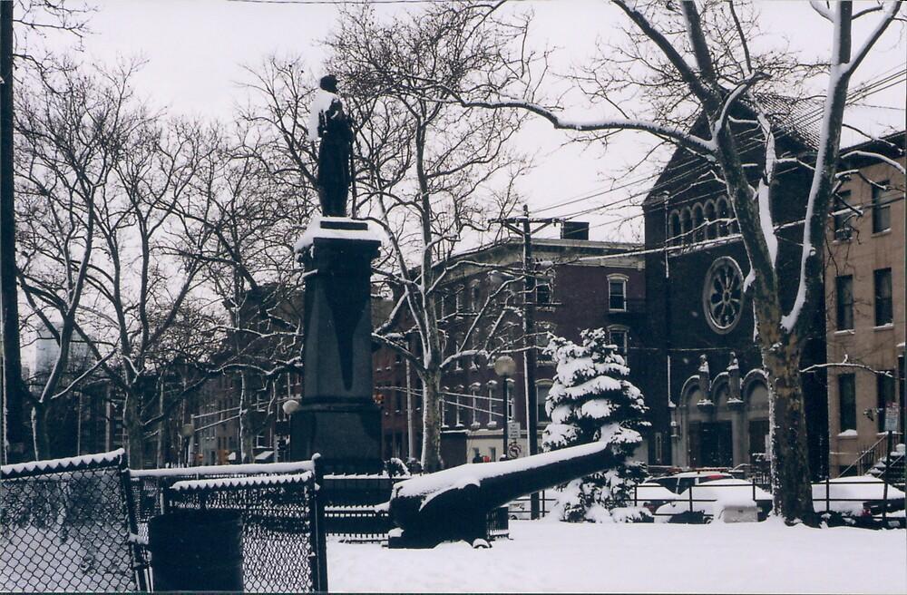 Hoboken, New Jersey, After a Wet Snow by lenspiro