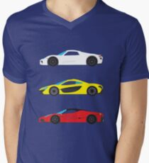 """Modern European Dream Cars """"The Trinity"""" Men's V-Neck T-Shirt"""
