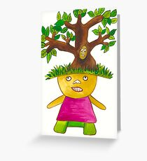 Tree Child  Greeting Card