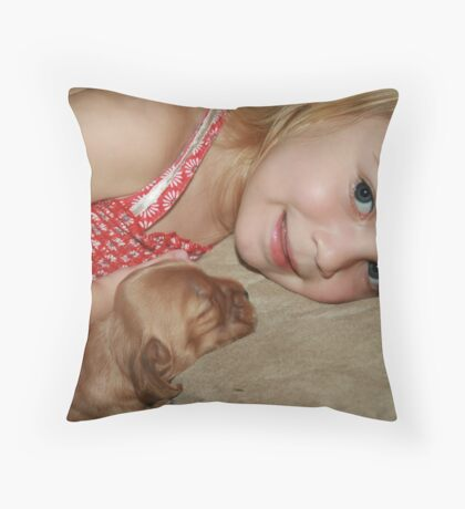 """Can We Take Her Home Grandma?"" Throw Pillow"