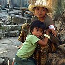 Mother & Child - Ta Prohm, Cambodia by Bev Pascoe