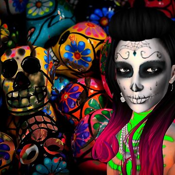 Day of the Dead Kardashian's by uniqueprints
