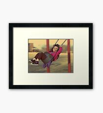 remember when life was this easy Framed Print