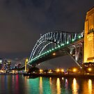 Sydney Harbour Bridge at night by Julian Fulton-Boote