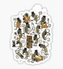 Monkey Magic (brown) Sticker