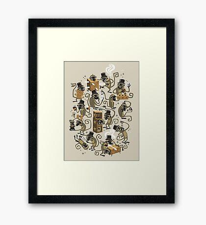 Monkey Magic (brown) Framed Print