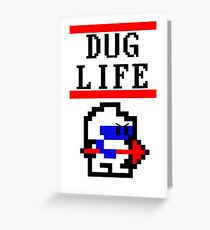 Dig Dug life Greeting Card