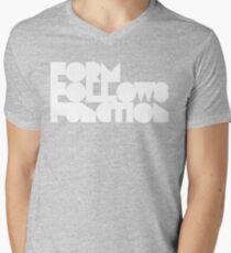 FFF - White Ink Mens V-Neck T-Shirt