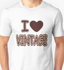 I Heart Vintage T-Shirt Unisex T-Shirt