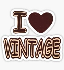 I Heart Vintage T-Shirt Sticker