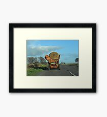 Hay Carting- Scottish style Framed Print