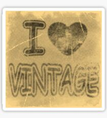 I Heart Vintage #2 T-Shirt Sticker