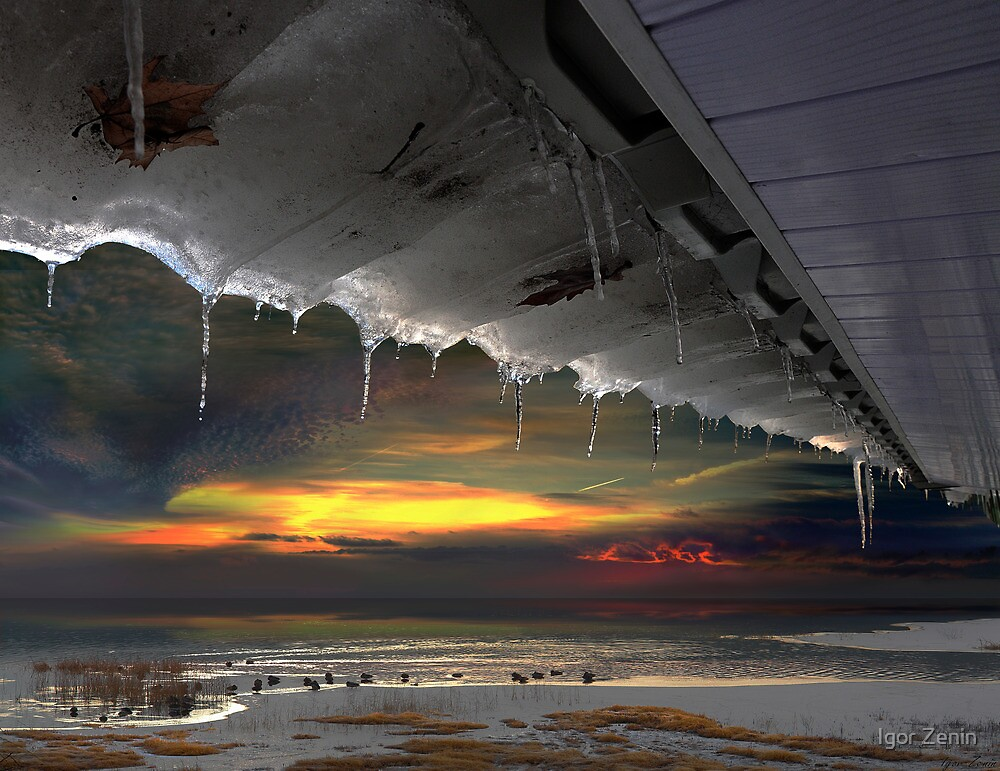 Rooftop Thaw by Igor Zenin