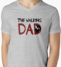The Walking Dad / The Walking Dead Men's V-Neck T-Shirt