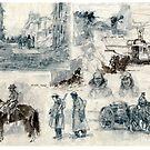 War drawings by David  Kennett