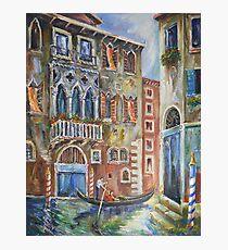 Venice - Romantic Row Photographic Print