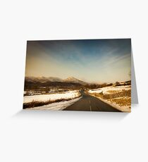 The Road to Torver Greeting Card