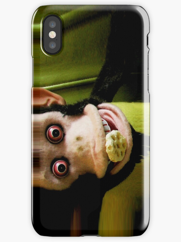 Musical Jolly Chimp Enjoys His Cereal iPhone by Margaret Bryant