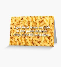 pasta greeting cards redbubble