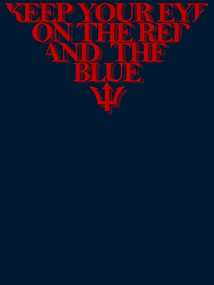 Melbourne Demons - The Red & the Blue by scribbledeath