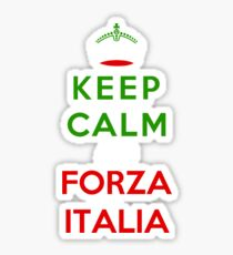 Keep Calm And Forza Italia Sticker