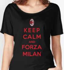 Keep Calm And Forza Milan Women's Relaxed Fit T-Shirt
