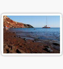 Red Beach - Santorini - Akrotiri Sticker
