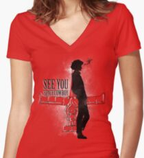 Cowboy in Space Women's Fitted V-Neck T-Shirt