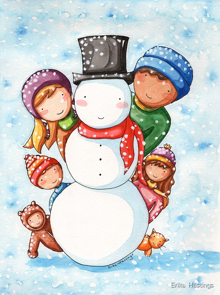 Building a Snowman by Erika  Hastings