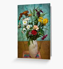 Fading Flowers Greeting Card