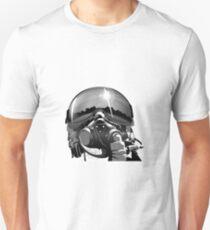 Kampfpilot Helm und Maske Slim Fit T-Shirt