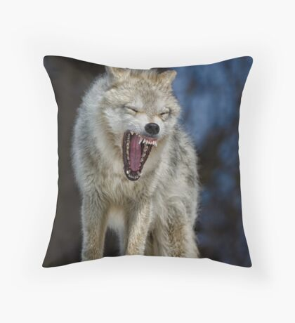 Angry like the wolf Throw Pillow