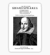 William Shakespeare's First Works Sticker
