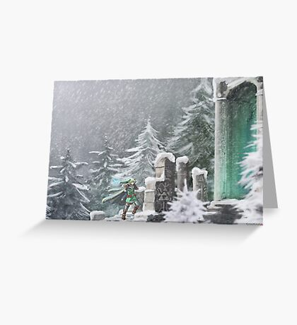 Snow Temple Greeting Card