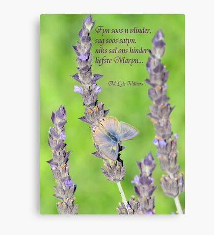 Vlindersag Canvas Print