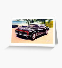 1968 Chevrolet Camaro Convertible Greeting Card