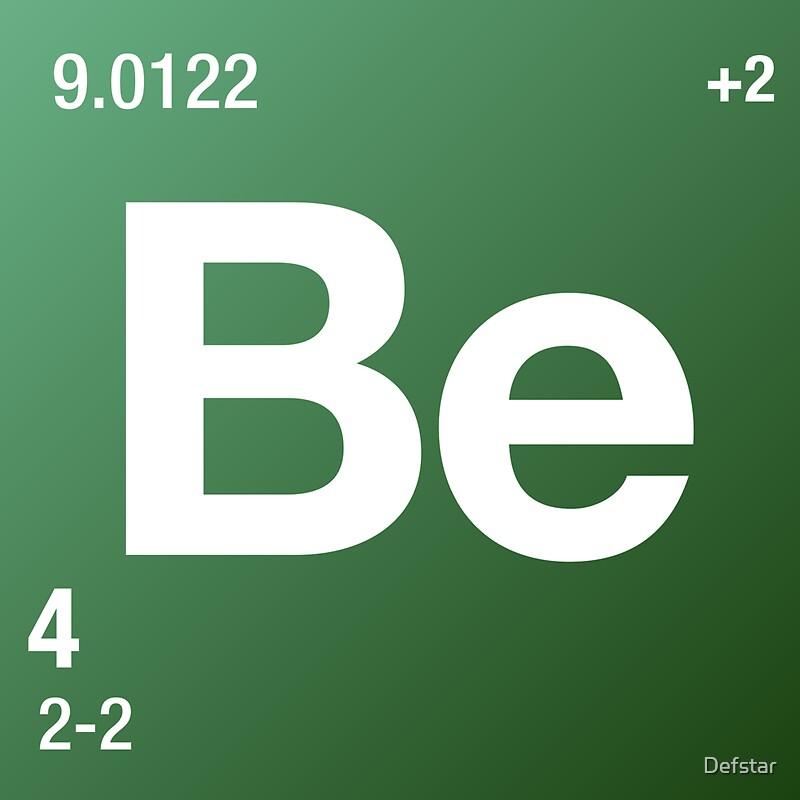 Element beryllium stickers by defstar redbubble element beryllium by defstar urtaz Gallery