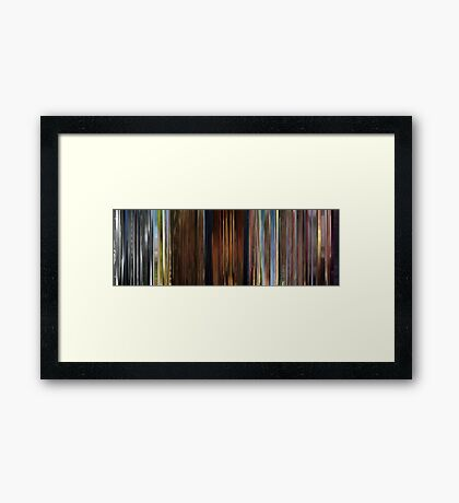 Moviebarcode: Sequence from Up (2009) Framed Print