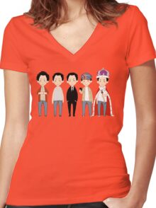 Moriarties Women's Fitted V-Neck T-Shirt