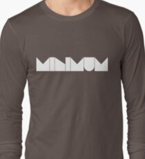 MINIMUM - White Ink Long Sleeve T-Shirt