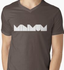 MINIMUM - White Ink Men's V-Neck T-Shirt