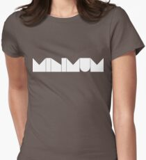 MINIMUM - White Ink Women's Fitted T-Shirt