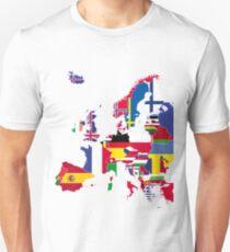 Europe map flags Unisex T-Shirt