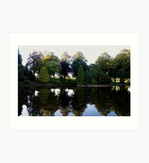 Reflections in Strathaven Art Print